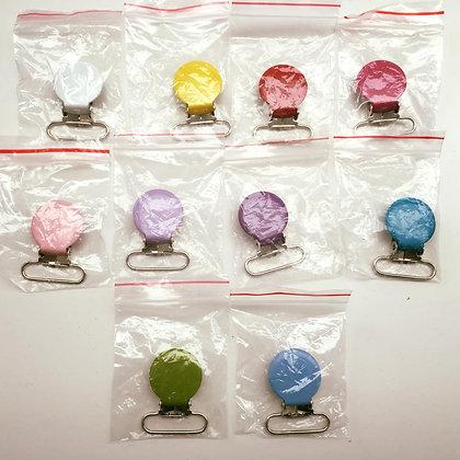 Speenclips rond - effen gekleurd