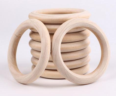 Houten ring 7cm