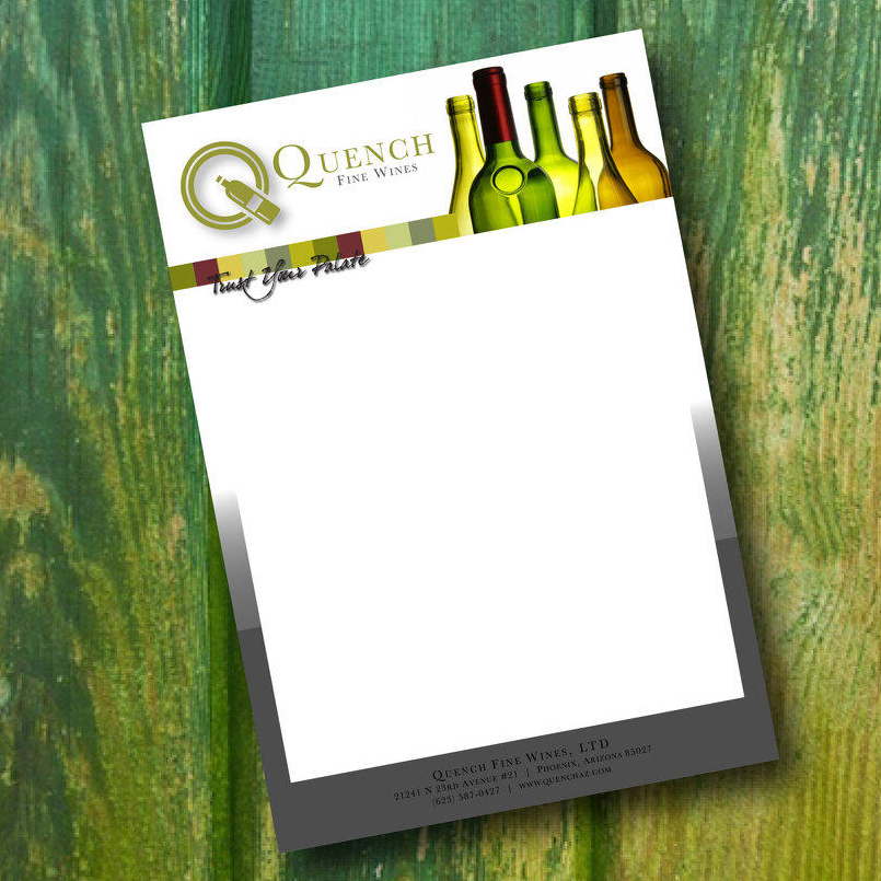 Quench Fine Wines Letterhead