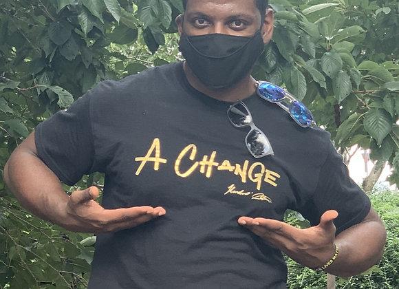 """""""A Change"""" Unisex Crew Cut Black"""
