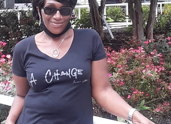 """A Change"" Women's V-Neck"