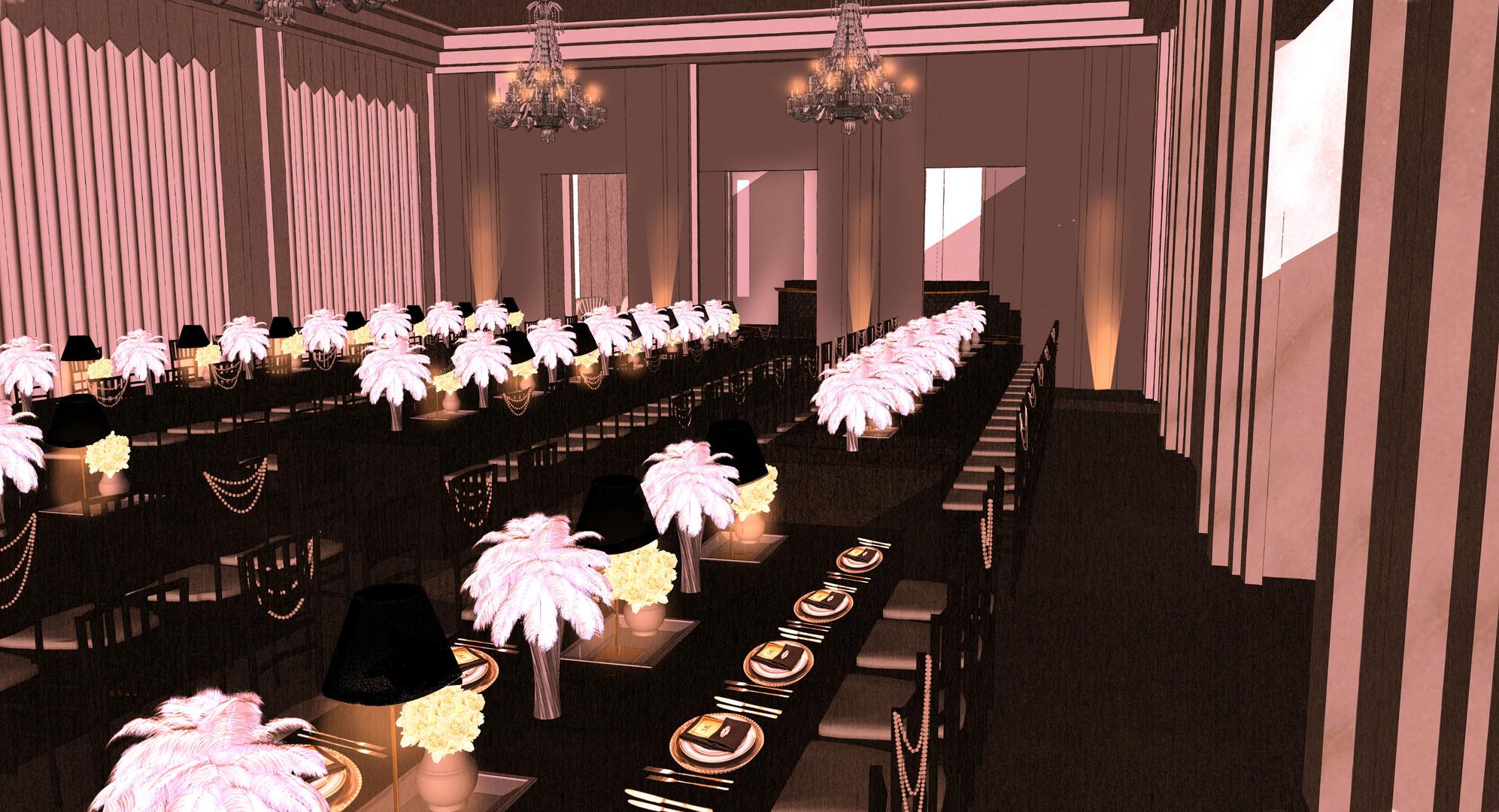 Gatsby Batmitzvah dinning room