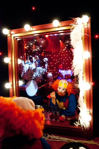 Clown in mirror