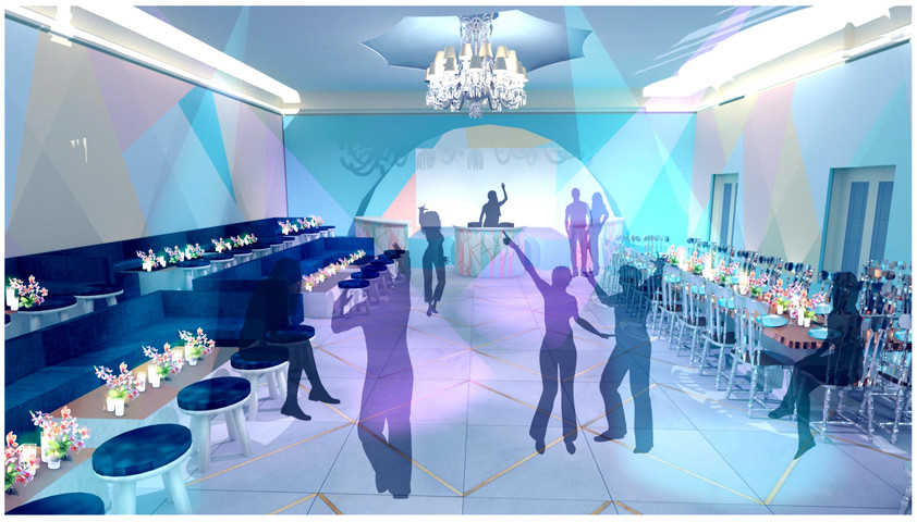 Dance floor design visual