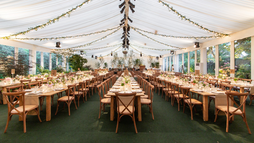 rustic marquee dinner