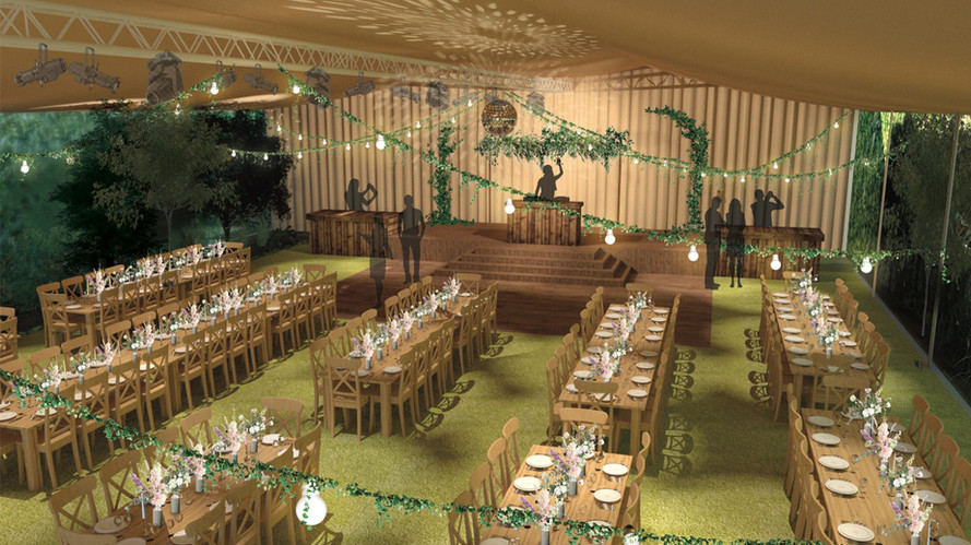 Rustic dinning room visual