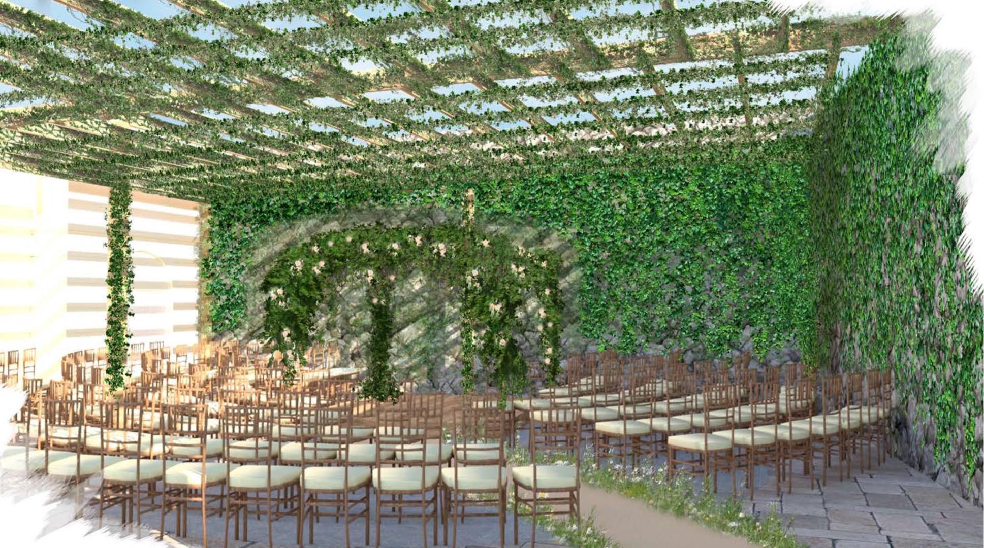 rustic garden ceremony visual