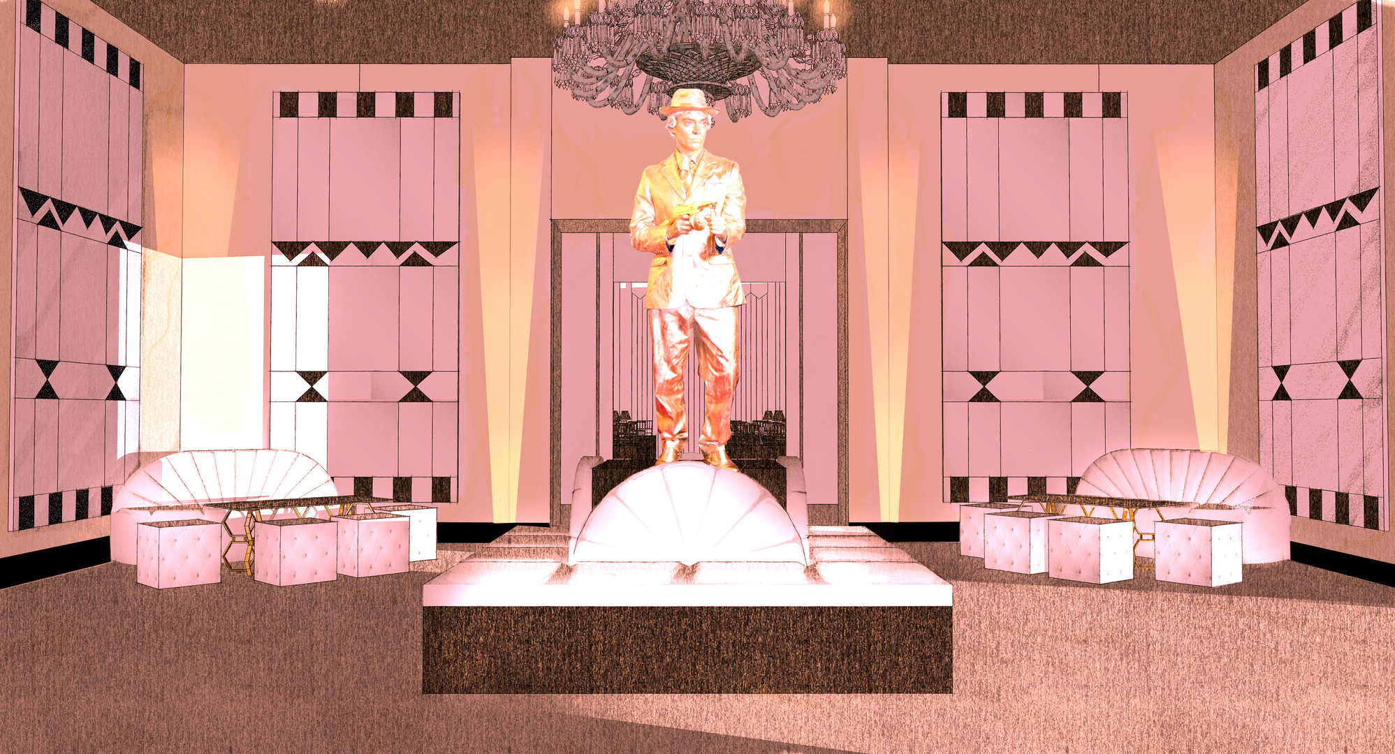 Gatsby Batmitzvah lobby