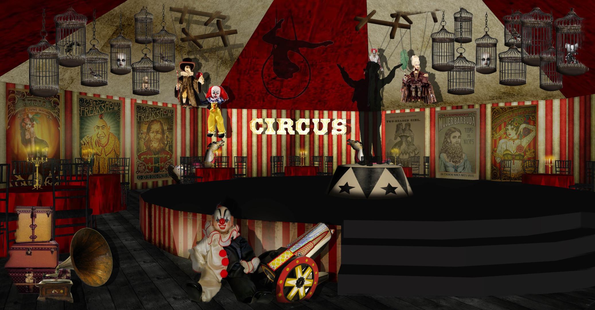 Dark Circus marquee interior