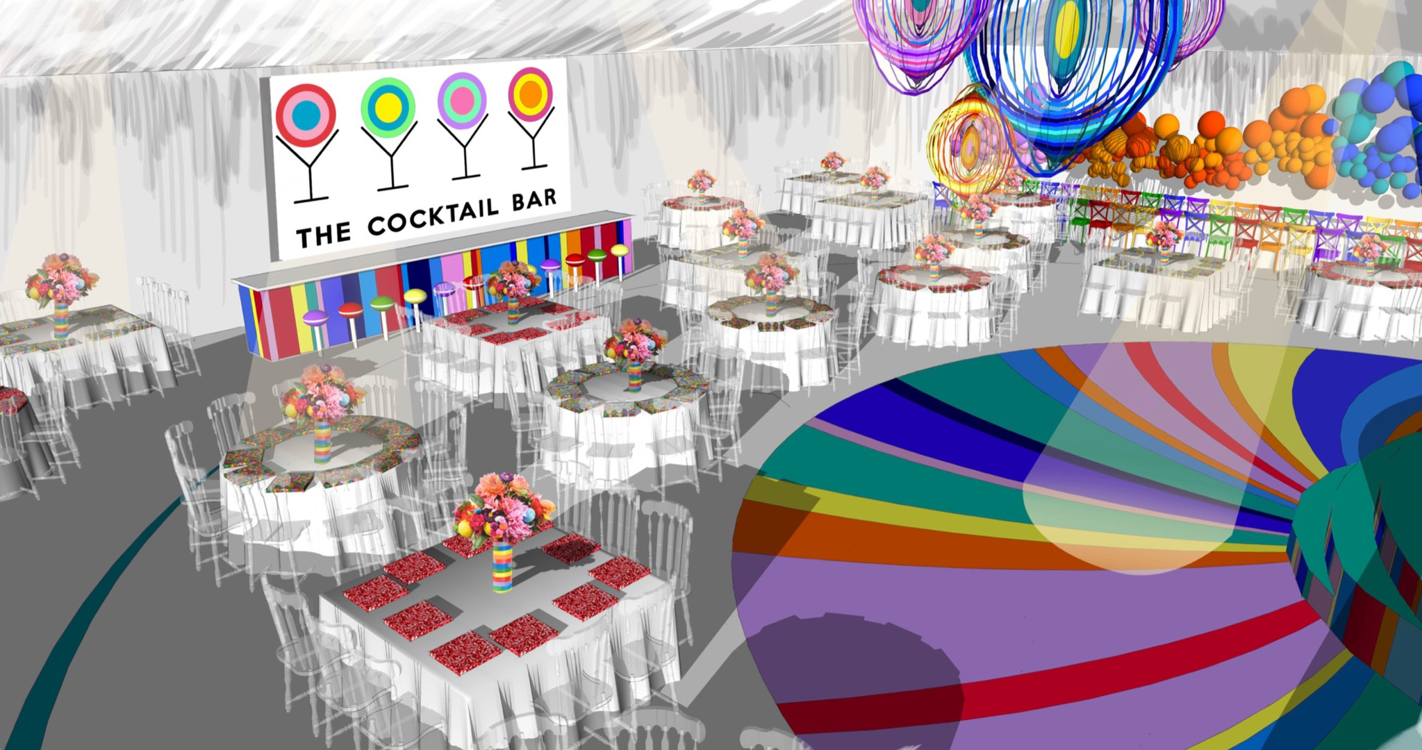sweet themed party visual