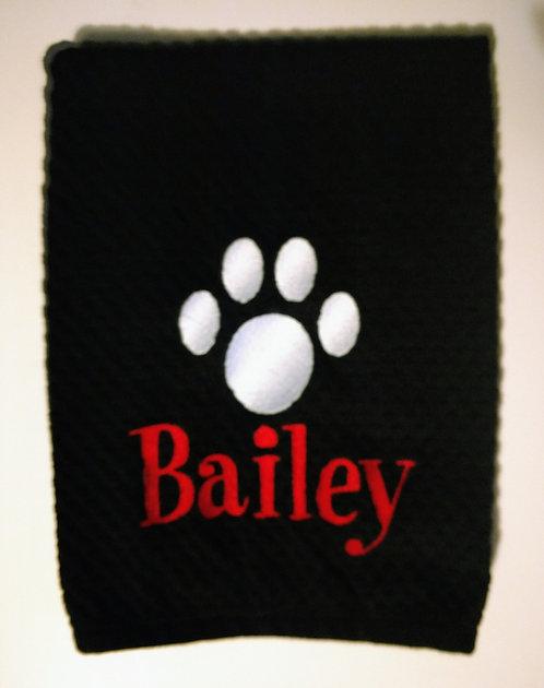 Dog Wipe Towels in black