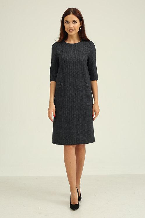 Платье (арт.5201-1083) т.серый