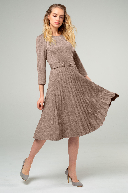 Платье (арт.5407-1758) бежевый
