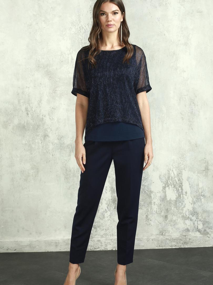 Блуза (арт.4190-1809) синий.JPG