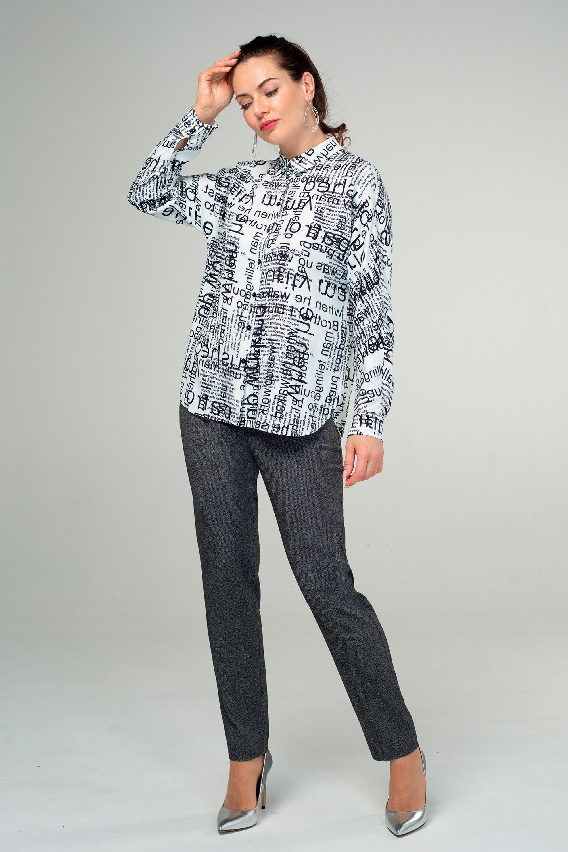 Блуза (арт.4227-1828) черно-белый