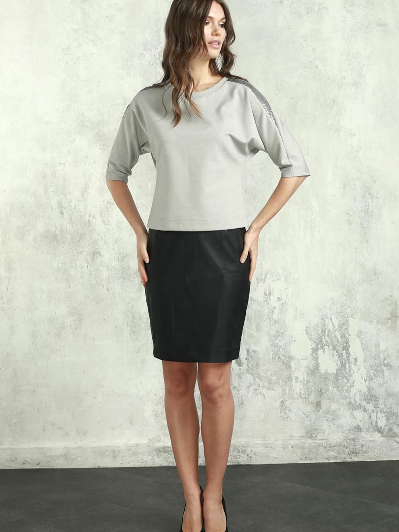 Блуза (арт.4377-1882) серый.JPG