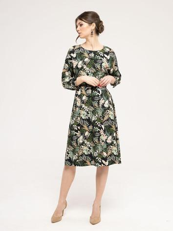 Платье (арт.5444-2052) принт листья.jpg