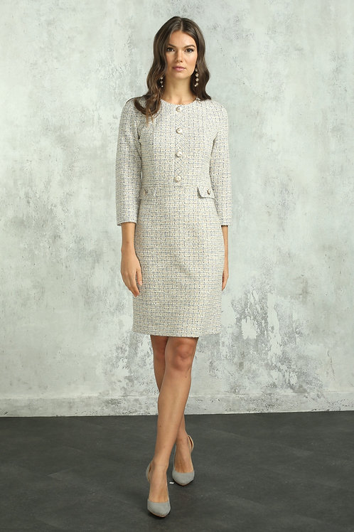 Платье (арт.5430-1899) жемчужный