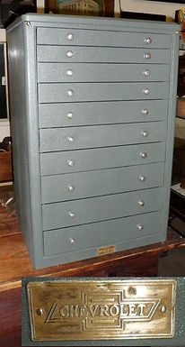 10 Drawer Chevrolet Auto Parts Cabinet 20in X 31in