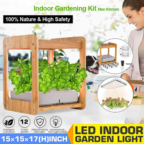 Growth Light With Bamboo Frame - Hydroponic Garden