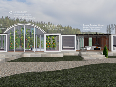 Complete sustainable living package included in the ATOM VILLA.