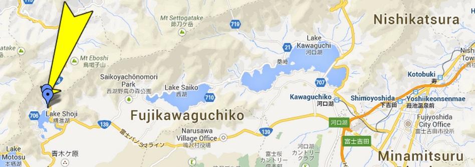 SHOJI MAP.  Fuji 5 Lakes