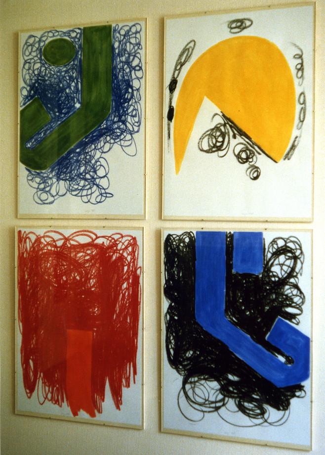 1989, gouache et craie sur papiers, 65x50 cm
