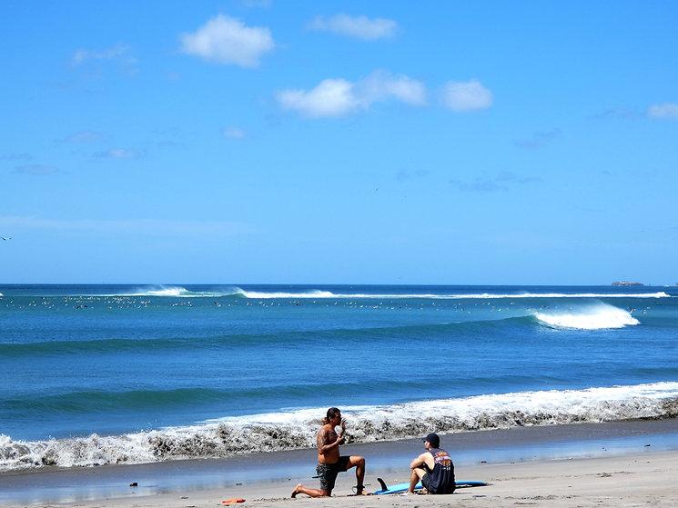 Donovan Teaching Surfing