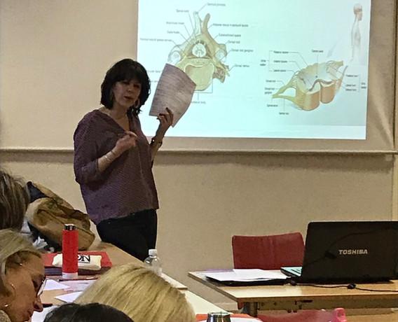 Cours d'anatomie avec Emmanuelle Vincensini