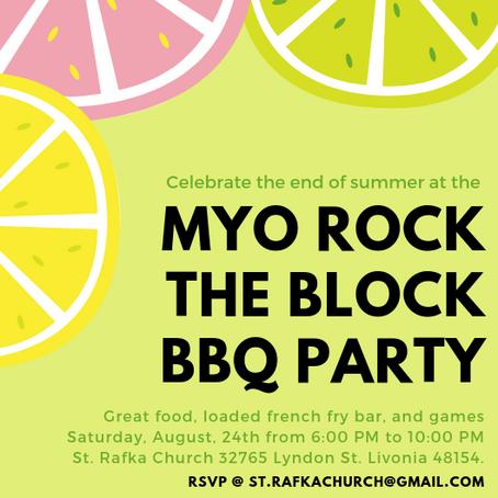 MYO ROCK THE BLOCK | End of Summer Party!