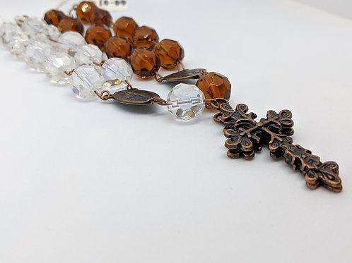 Crystal Auto Decade Rosary