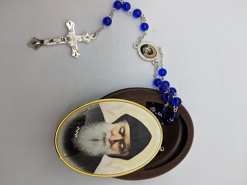 Sliding Locket with Rosary