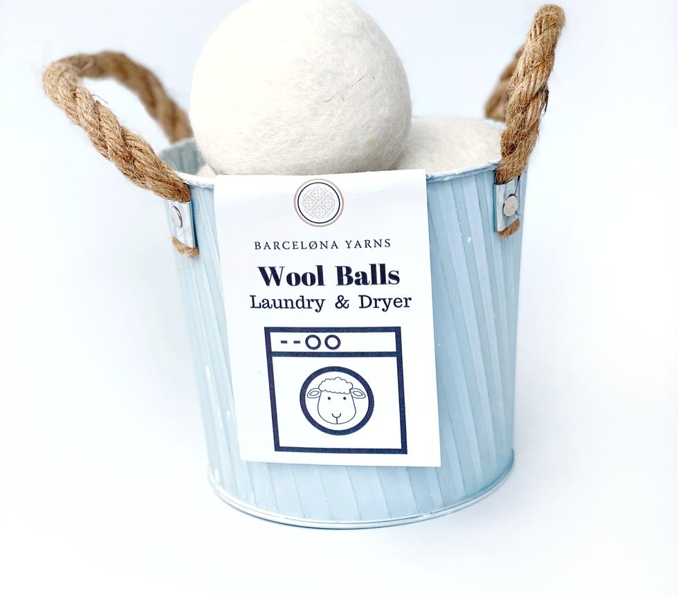 Bolas de lana para lavado y secado