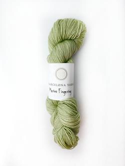 fingering light green barcelona yarns