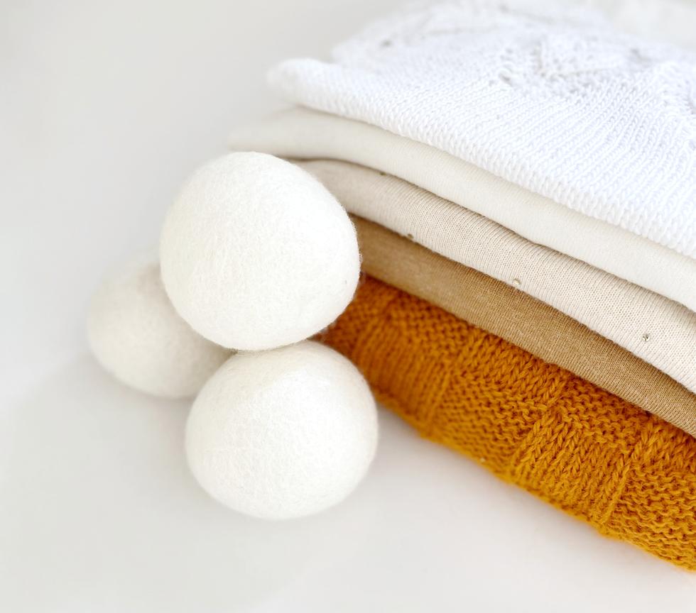 Bolas 100% lana para lavadora y secadora