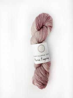 fingering  old pink barcelona yarns
