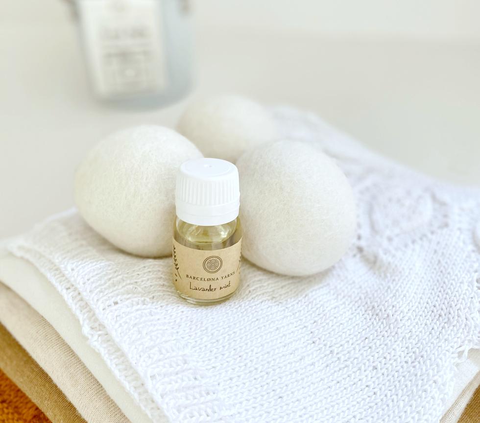 Bolas lana con esencia para dar frescor a la ropa
