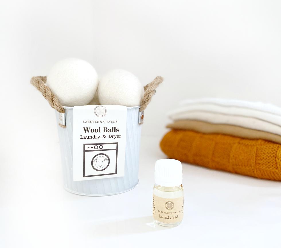 Bolas ecologícas para lavado / Ecologic wool balls for laundry