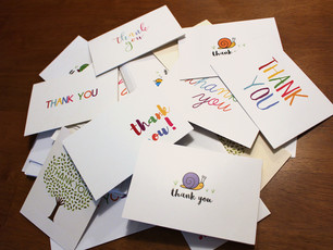 """Thank you cards from Appleton West students from our workshop """"You Might Be A Writer"""" – how sweet is"""