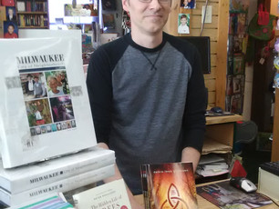"""Little Read Book Inc in Wauwatosa is now carrying Backbiters!  Say """"hi"""" to Kevin (pictured) if you s"""