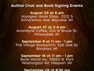 New author chats added to my schedule -- see me there!
