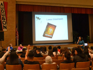 What a great time speaking with students at Audubon High School! Thank you, Karen Ambrosh for inviti