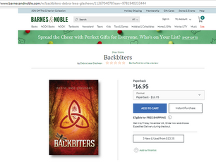 """""""Backbiters"""" is now sold by Barnes and Noble! https://www.barnesandnoble.com/w/backbiters-"""