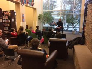 What a great time at the Menasha Public Library today, discussing writing and art and loyalty! Thank