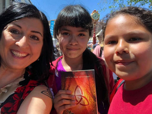 I met these two fabby readers at the LA Festival of Books yesterday. Great to meet you, Kimberly and
