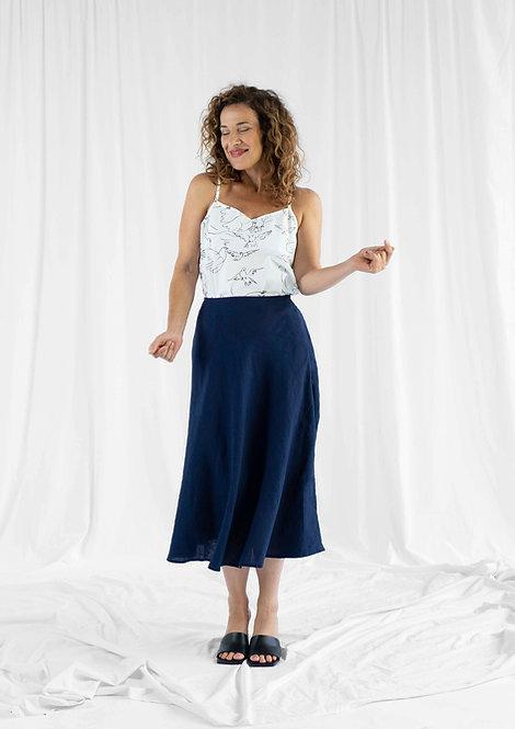 Skirt Ina, Blue