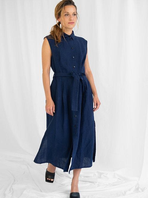 Shirt Dress Marie, Blue