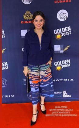 Paula Schramm in Culotte Mare e Monti Blue @Berlinale