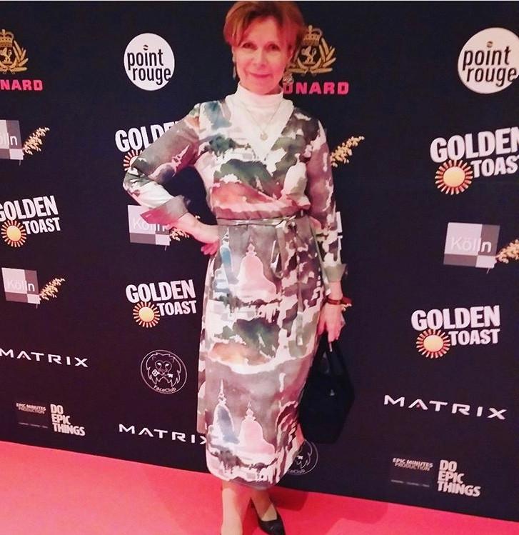Marion Kracht in Bali Dress @Berlinale