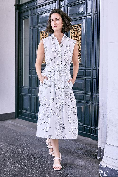 Shirt Dress Marie, Dove